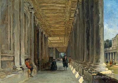 The Colonnade Of Queen Mary Art Print