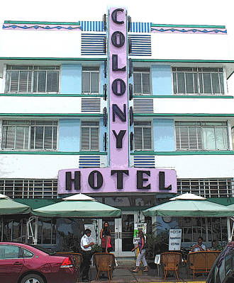 Photograph - The Colony Hotel Miami Beach by Jason Pepe