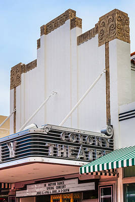 Photograph - The Colony Theatre by Ed Gleichman