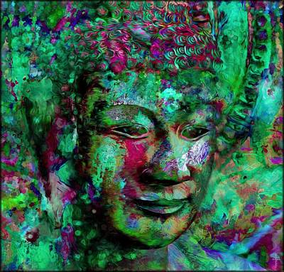 Feelings Photograph - The Color Buddhas Of Kyhanthor - Green  by Daniel Arrhakis