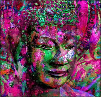 Asian Photograph - The Color Buddhas Of Kyhanthor - Pink  by Daniel Arrhakis