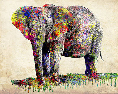 Photograph - A Colorful Elephant by Ron Grafe
