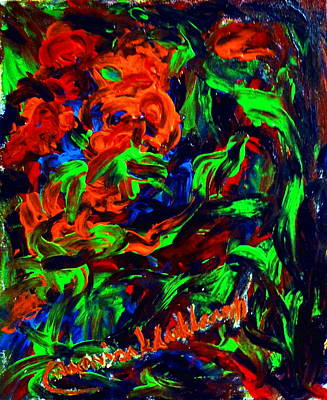 The Color Of My Love World. Art Print