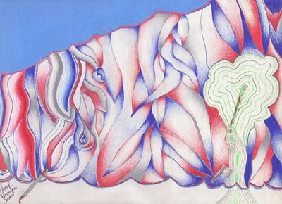 The Color Of Rain Art Print by Darryl Sanders