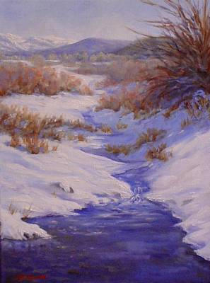 The Color Of Winter Art Print by Debra Mickelson