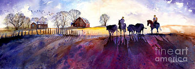 Old Barn Painting - The Color Of Winter by Michael David Sorensen