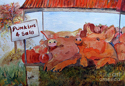 Painting - Pumkins 4 Sale by Sandy McIntire