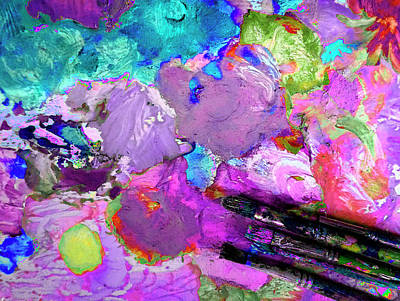 Digital Art - The Color Palette Painting by Lisa Kaiser