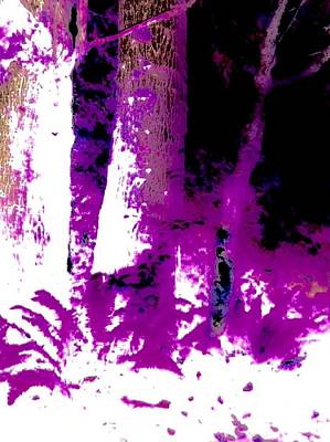 Mixed Media - The Color Purple Forest by Jennifer Lake