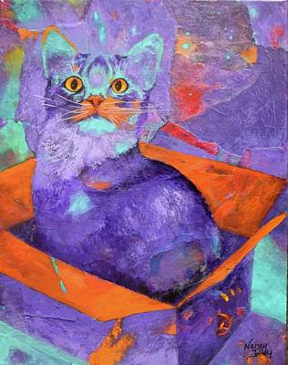Painting - The Color Purrrple by Nancy Jolley