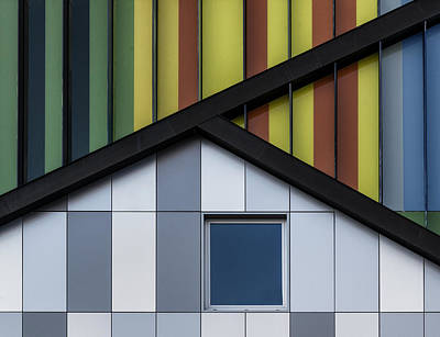 Abstract Architecture Photograph - The Color Symphony by Jef Van Den