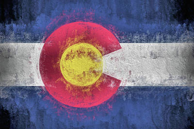 Photograph - The Colorado Flag by JC Findley
