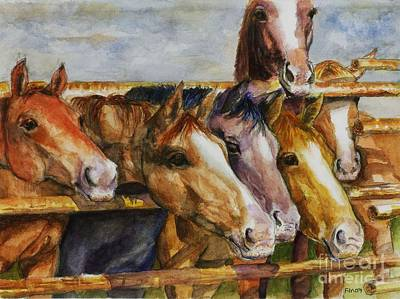 The Colorado Horse Rescue Art Print by Frances Marino
