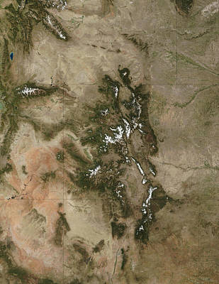 Kids Alphabet - The Colorado Rockies From Space by Nasa