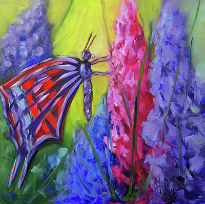 Painting - The Colored Butterfly  by Vicki VanDeBerghe