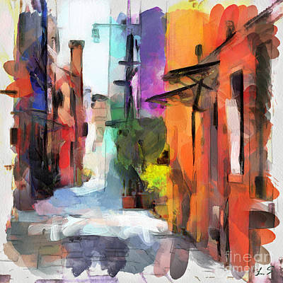 Drawing - The Colored Houses Of Burano by Sergey Lukashin
