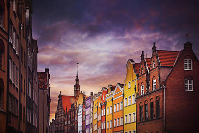 Enchanting Photograph - The Colorful Architecture Of Gdansk by Carol Japp