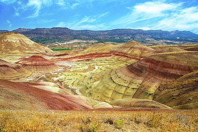 High Desert Photograph - The Colorful Painted Hills In Eastern Oregon by David Gn