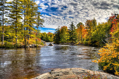 Of Autumn Photograph - The Colors Of Autumn On The Moose River by David Patterson