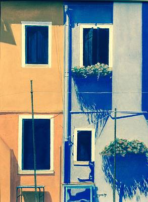 Painting - The Colors Of Burano by Harvey Rogosin