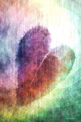 Valentines Day Digital Art - The Colors Of Her Heart by Linda Sannuti