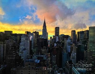 Photograph - The Colors Of New York - Chrysler Building At Dusk by Miriam Danar