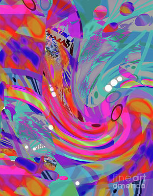 Painting - The Colors Of Relentless Compelling Rhythm by Expressionistart studio Priscilla Batzell