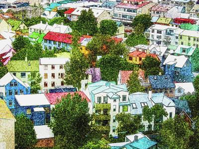 Digital Art - The Colors Of Reykjavik by Frans Blok