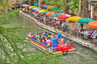 Riverwalk Photograph - Colorful Riverwalk Of San Antonio Texas - Paseo Del Rio by Gregory Ballos