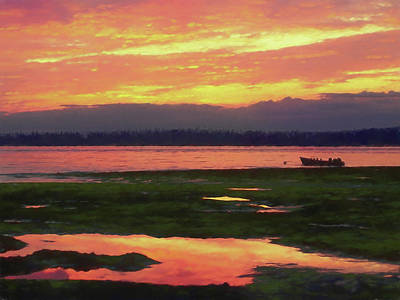 The Colors Of Ship Creek Art Print