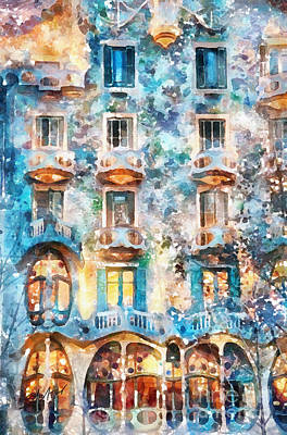The Colors Of Spain Art Print by Shirley Stalter
