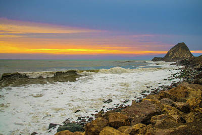 Photograph - The Colors Of Sunset At Point Mugu by Lynn Bauer