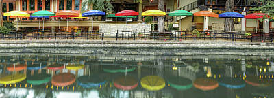 Photograph - The Colors Of The San Antonio Texas Riverwalk - Panoramic by Gregory Ballos