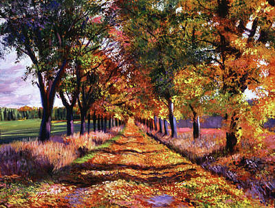 Impressionism Paintings - The Colors Of Vermont by David Lloyd Glover