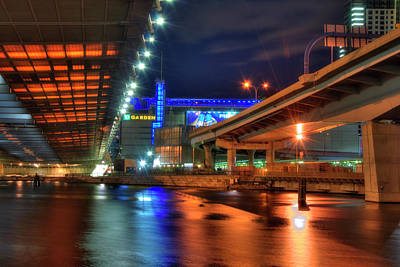 Photograph - The Colors Under The Zakim - Leonard P Zakim Bridge - Boston by Joann Vitali