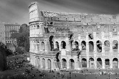 Colliseum Photograph - The Colosseum Black And White By Stefano Senise by Stefano Senise