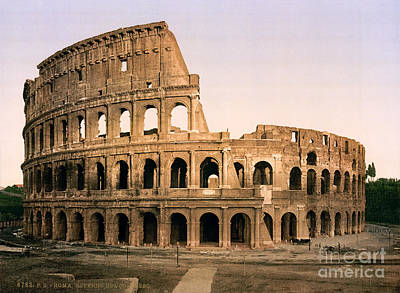 Colosseum Painting - The Colosseum by Celestial Images