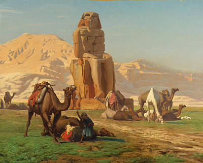 Jean-leon Gerome Painting - The Colossus Of Memnon by Jean-Leon Gerome