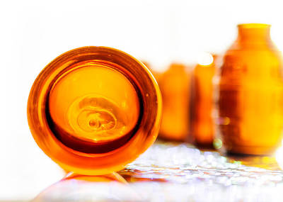 Art Glass Photograph - The Colour Of Amber II by Jon Woodhams