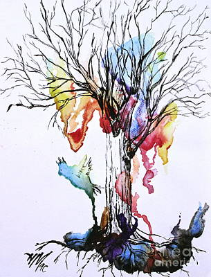 Painting - The Colour Tree by Haley Howard