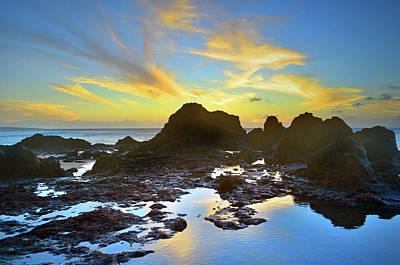 Photograph - The Colours Amongst Sea, Sky And Stone by Tara Turner