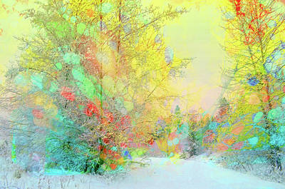 The Colours Winter Hides Inside Art Print by Tara Turner