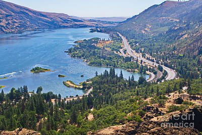Photograph - The Columbia River In The Gorge by Ansel Price