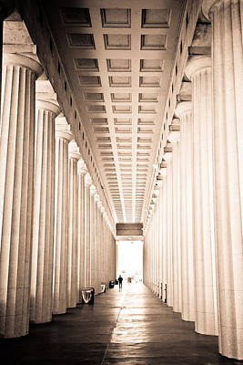 The Columns At Soldier Field Art Print