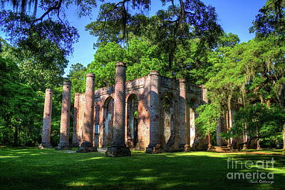 Photograph - The Columns Old Sheldon Church Ruins by Reid Callaway