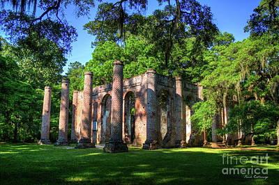 Photograph - The Columns Old Sheldon Church Ruins by Reid Callaway