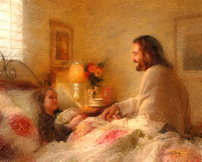 Bed Painting - The Comforter by Greg Olsen