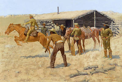 Indian Pony Painting - The Coming And Going Of The Pony Express by Frederic Remington