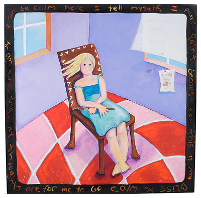 Checkerboard Floor Painting - The Coming Calm by Cecie McCaffery