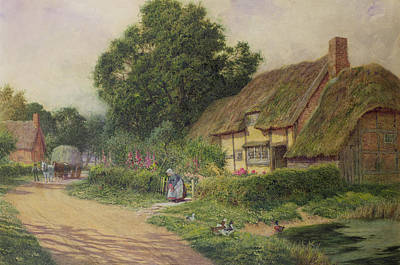 United Kingdom Painting - The Coming Of The Haycart  by Arthur Claude Strachan